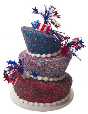 Sparkly 4th of July Cake