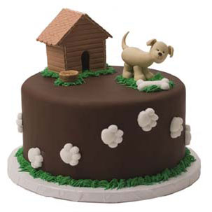 Dog Paw and Bone Cake