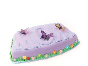 MOM Butterfly and Flower Cake