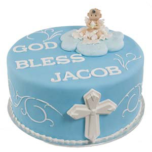 Baptism Angel Cross Cake