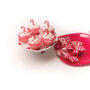 Peppermint Candy Cane Cupcakes