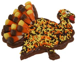 Candy Corn Turkey Cookie