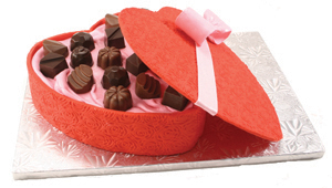 Valentine Box of Chocolates Cake