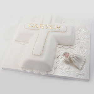 Carters Confirmation Cross Cake