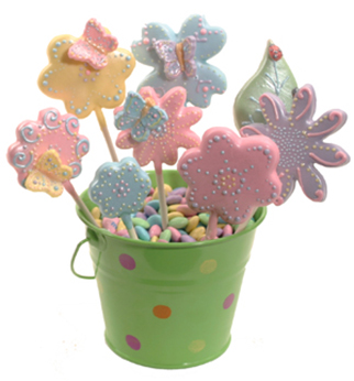Flower and Butterfly Cookie Bouquet