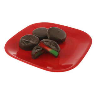 Red White and Green Peppermint Patties