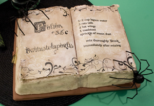 Potion Book Cake