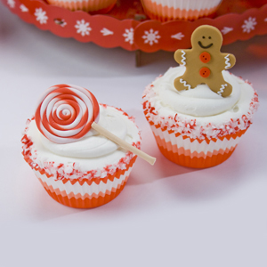 Gingerbread Boy Peppermint Cupcakes