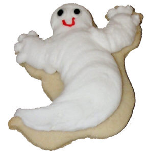 Piped Ghost Cookie