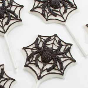 Spider On Web Chocolate Suckers