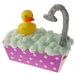 Ducky In Bathtub Cupcake