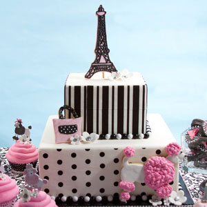 Poodles in Paris Cake