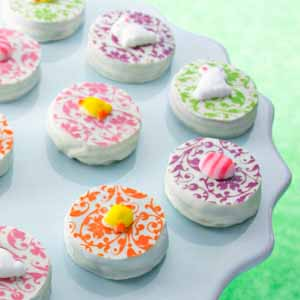 Easter Dipped Sandwich Cookies