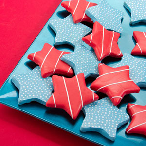 Dipped Star Cookies
