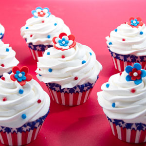 4th of July Blooms Cupcakes