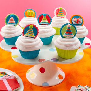 Birthday Party Hat Cupcakes
