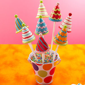 Pleasing Birthday Party Hat Cake Pops Country Kitchen Sweetart Cake Personalised Birthday Cards Veneteletsinfo