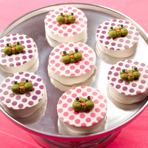 Frog Princess Dipped Sandwich Cookies