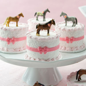 Horse and Flowers Mini Cakes
