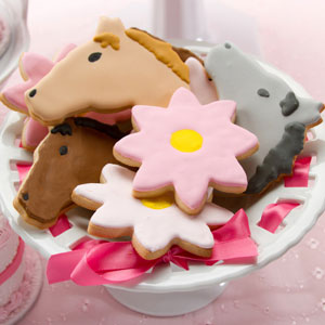 Horses and Flowers Cookies