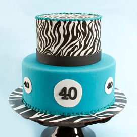 40th Birthday Zebra Cake
