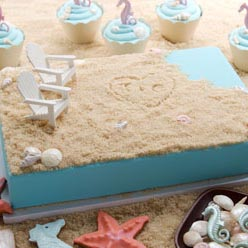 Beach and Seashell Cake