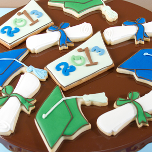 Geometric Graduation Cookies