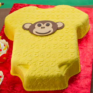 Monkey Baby Shower Cake