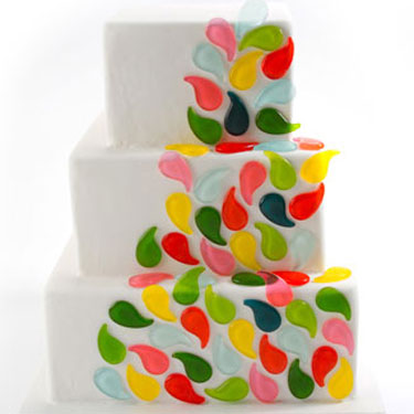 Colorful Paisley Candy Cake