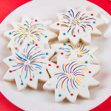 Firework Cookies | Country Kitchen SweetArt Cake, Candy and Cookie ...