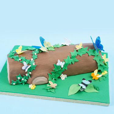 Butterflies and Ivy Cake