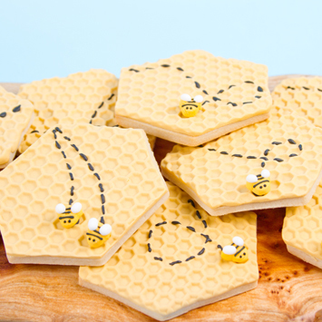 Bee Honeycomb Cookies