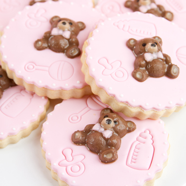 Embossed Teddy Bear Cookies