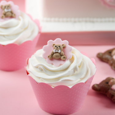 Teddy Bear Medallion Cupcakes