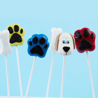 Puppy Pawprint Cake Pops