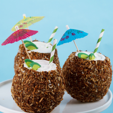 Coconut Shaped Mini Cakes