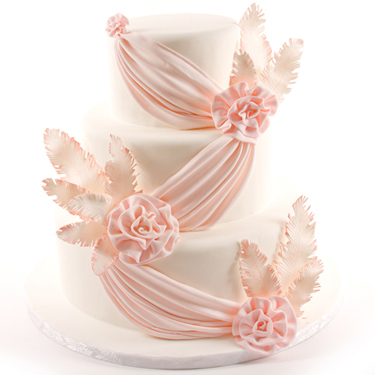 Feathers and Drapes Cake