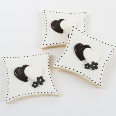 Mr and Mrs Black and White Cookies