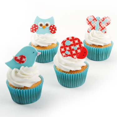 Fluttering Friends Cupcakes
