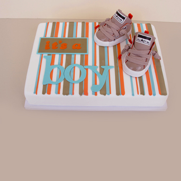 Baby Boy Shoes Cake