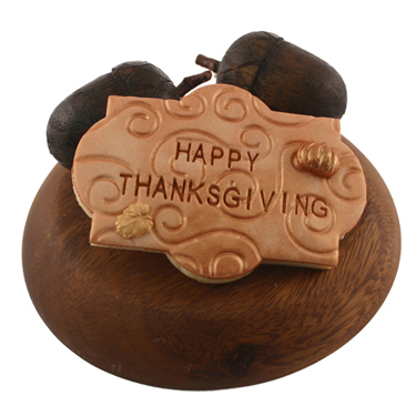 Happy Thanksgiving Plaque Cookie