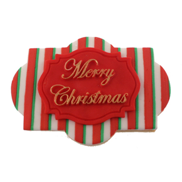 Merry Christmas Plaque Cookie