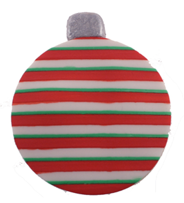 Striped Ornament Cookie