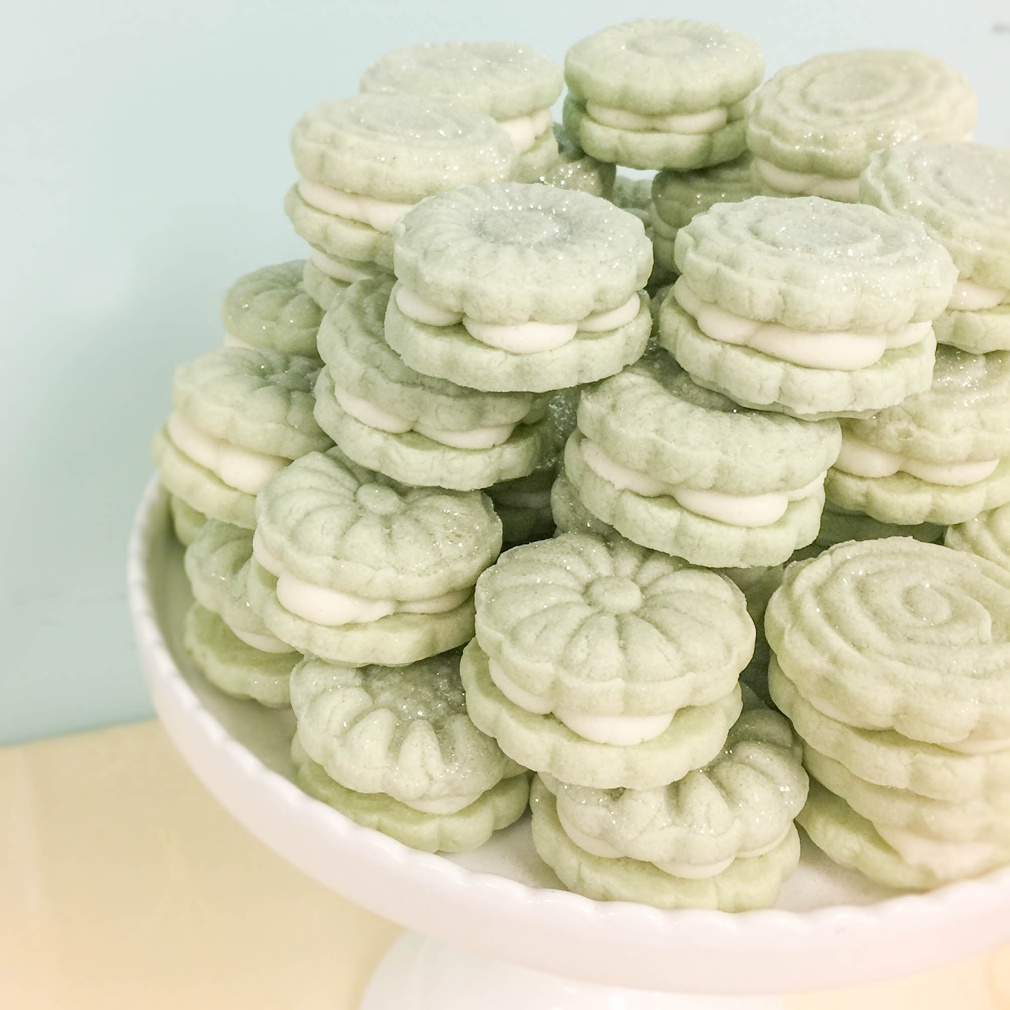 Moon Cake Molded Cookie Sandwiches