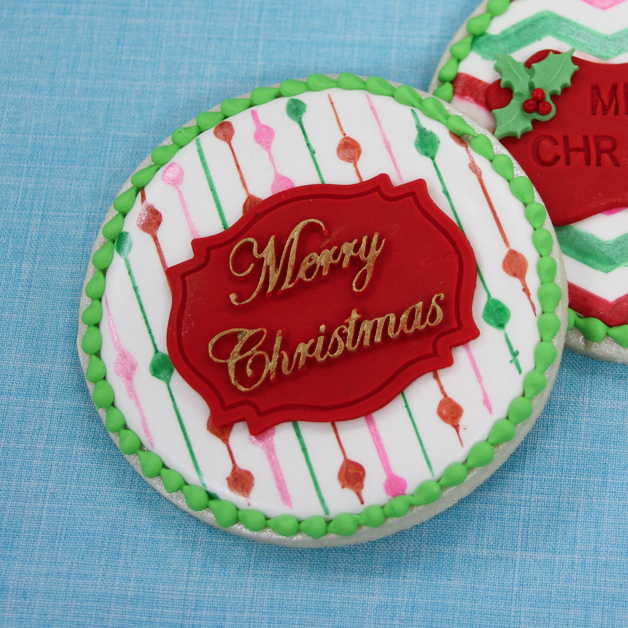 Embossed Christmas Sugar Cookies