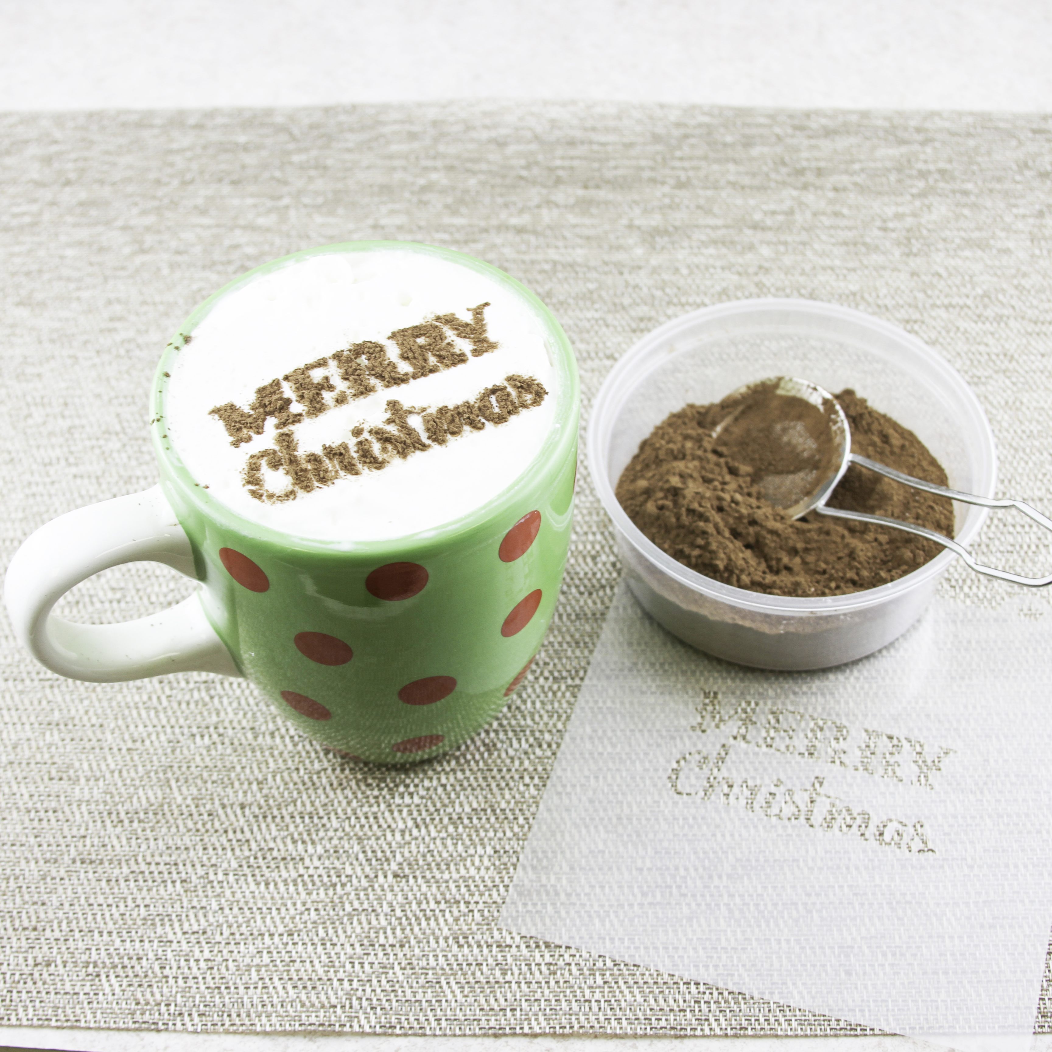 Christmas Stenciled Hot Chocolate