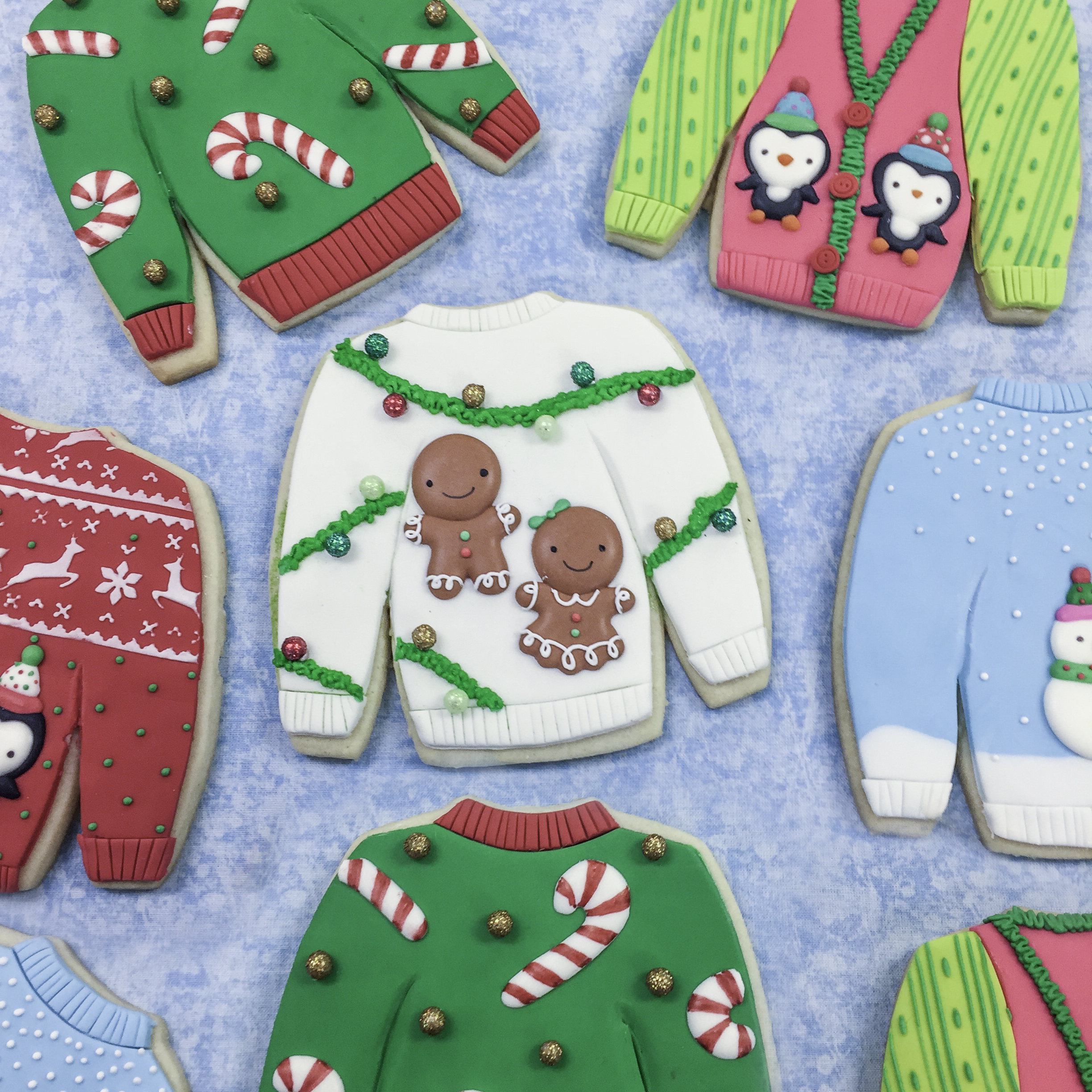 Christmas Sweater Sugar Cookies