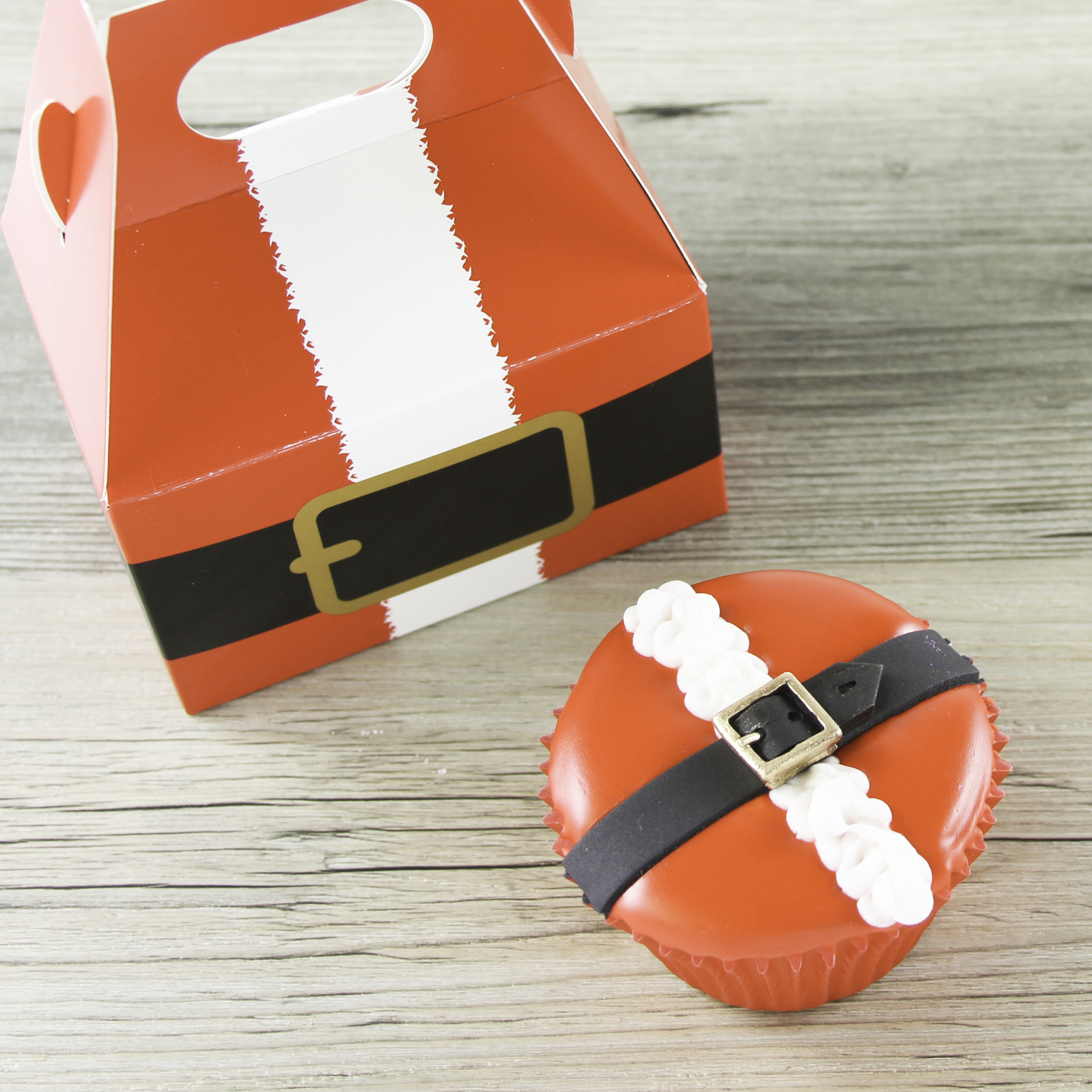 Santa Suit Decorated Cupcake