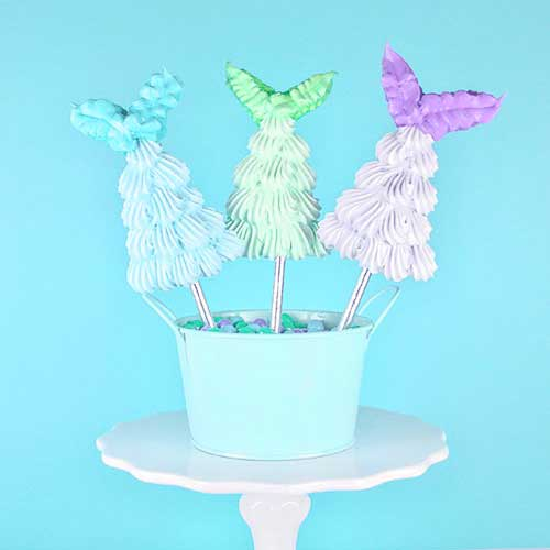 Mermaid Tail Meringue Pops