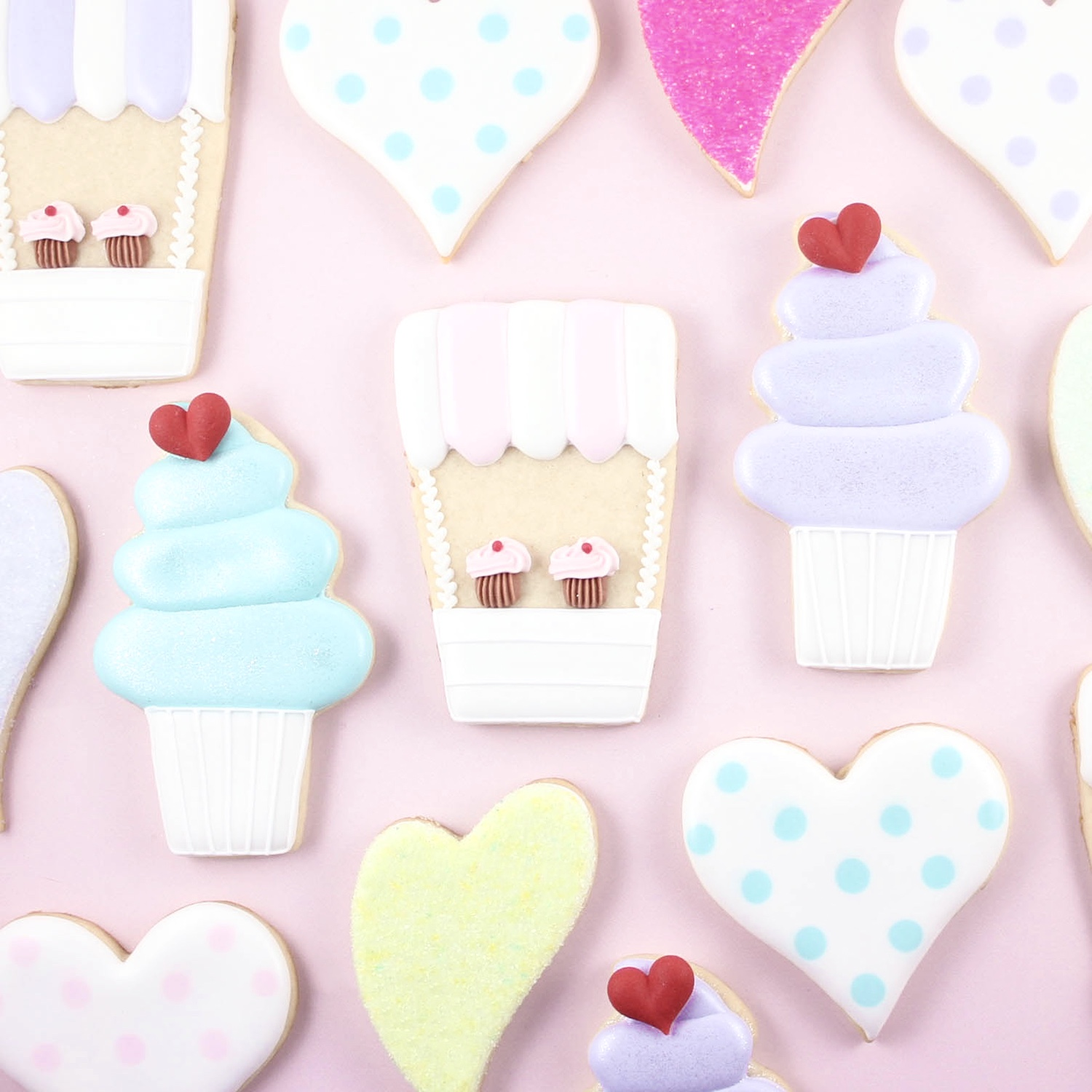 Cupcake Stand Cookie Set